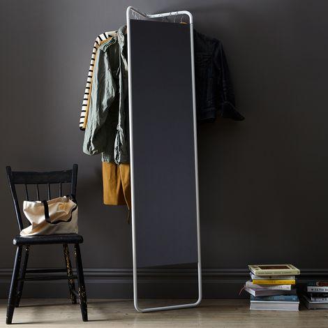 Hanging Storage Floor Mirror
