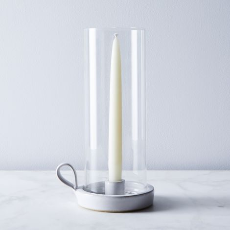 Ceramic Silo Candleholder & Taper Candles