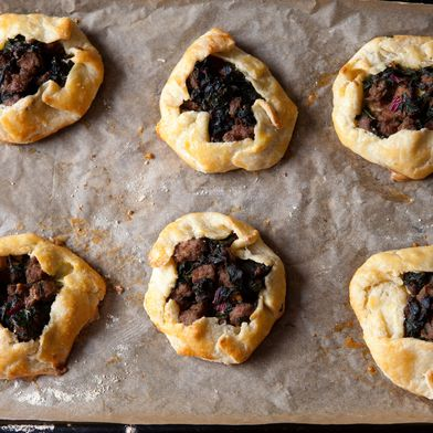 Sausage and Chard Mini Galettes