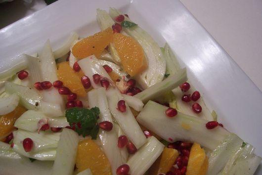 Fennel, Blood Orange and Pomegrant Spring Salad