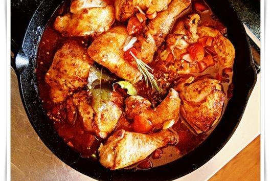 Summer Grilled Chicken Cacciatore