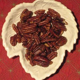 Smoked Maple Glazed Pecans
