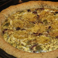 Lemon Pepper and Olive Quiche