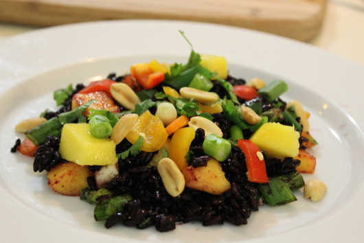 Rainbow Black Rice Salad