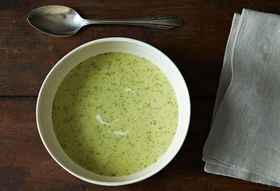 Dinner Tonight: Celery Soup + Anchovy Butter Toast