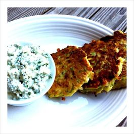 Zucchini Pancakes with Herbed Ricotta