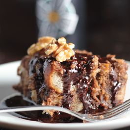 Dark Chocolate & Stout Bread Pudding