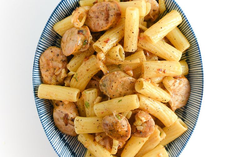 Caramelized Fennel Pasta with Sausage