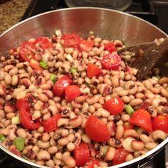 Easy Black-Eyed Peas with Chevre