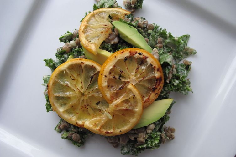Lentil Salad with Roasted Lemon