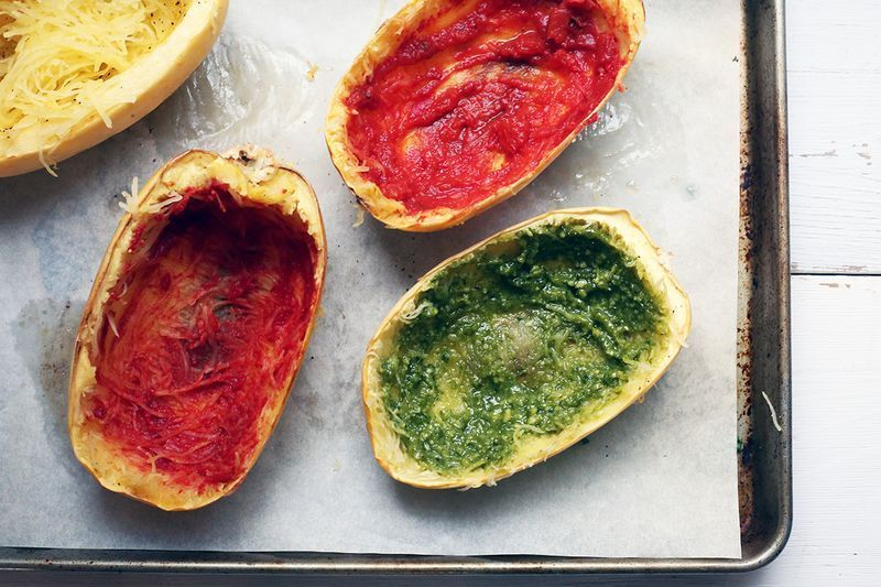 Rub your squash with tomato paste, pesto, aioli, etc, etc...