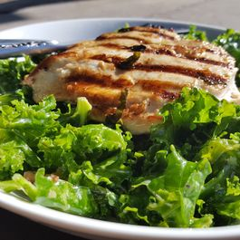 Rosemary/Thyme Grilled Chicken with Walnut Dijon Kale Salad