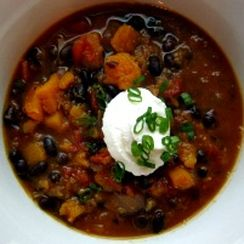 Smokey black bean and butternut squash stew