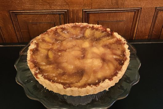 Winter Peach Tart  - An Adaptation of Amanda Hesser's Peach Tart