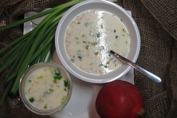 Armenian Yogurt Soup - S'pas