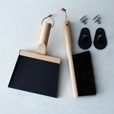 Vintage-Inspired French Hanging Dustpan & Brush Set