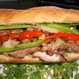 Caramelized Chicken Banh Mi