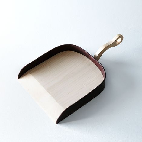 Maple and Leather Dust Pan