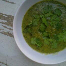 Curried Spinach and Cilantro Soup