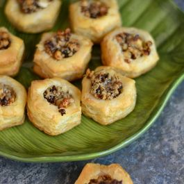 Walnut , Date & Chevre cups