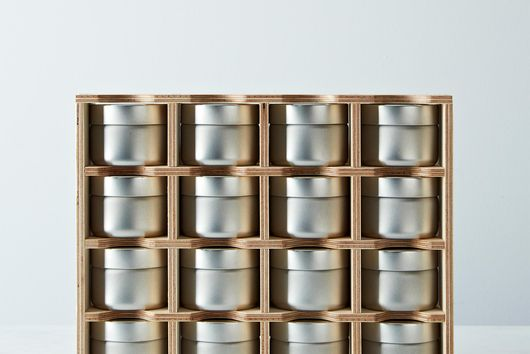 Spice Rack & Tins with Erasable Labels