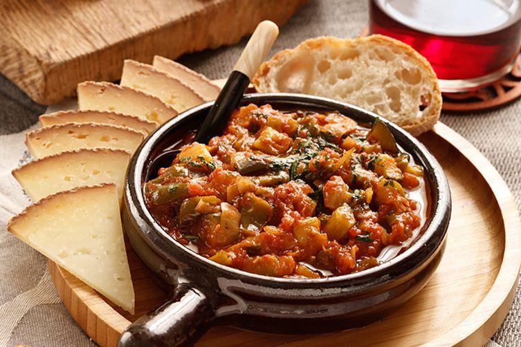 Pisto Manchego, vegetable stew from La Mancha.