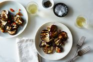 Grilled Eggplant Agrodolce with Mint and Fresno Pepper