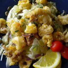 Fennel-Crisp Calamari Salad