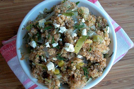 Dilly Bulghur Salad with Fennel and Leek