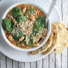 Spicy Italian White Bean & Sausage Soup