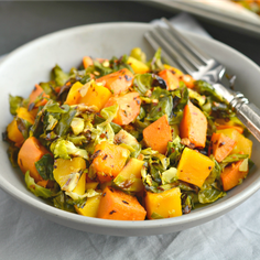 Brussels Sprouts Sweet Potato Salad