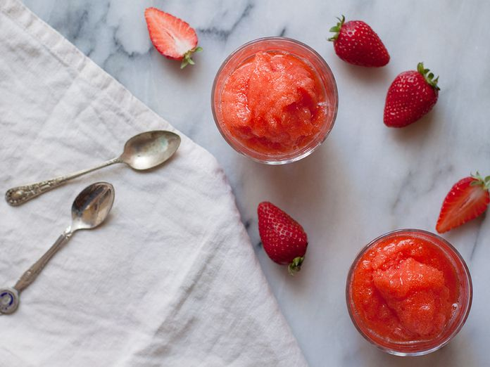 An Italian Strawberry Granita (or Sorbet) That Needs No Special Equipment