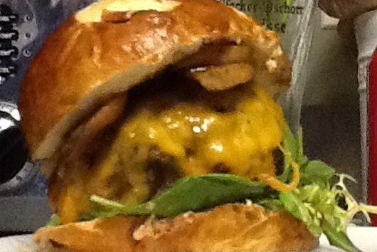 Spicy chipotle Bison burger