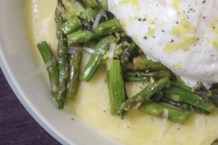 Brown Butter Lemon Asparagus Polenta