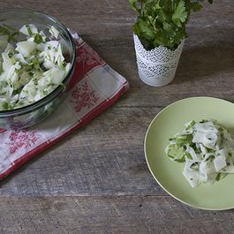 Sweet & Sour Kohlrabi Salad