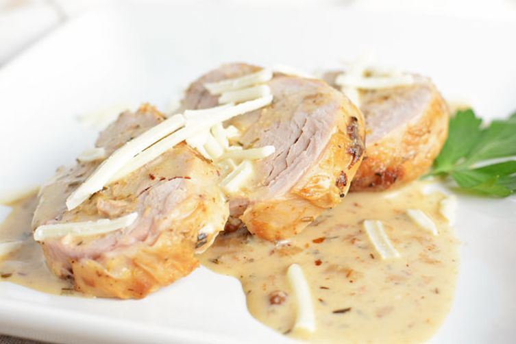 Tender Pork Loin with Herb Sauce