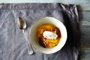 Fragrant Oranges with Ice Cream, Almonds, and Dates