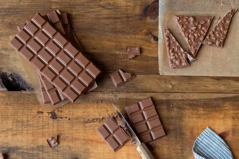 Homemade Crackly Candy Bars