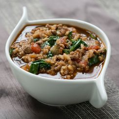 Spinach, Tomato, Lamb and Rice Broth