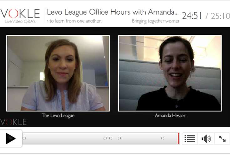 Vokle | Levo League Office Hours with Amanda Hesser, Co-Founder, Food52.com