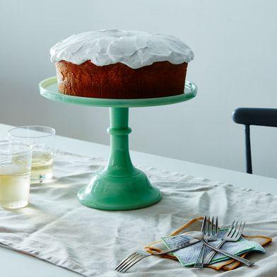 Jadeite Glass Cake Stand