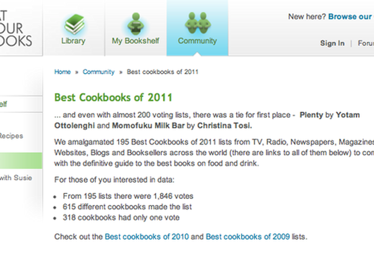 Eat Your Books' Best Cookbooks of 2011