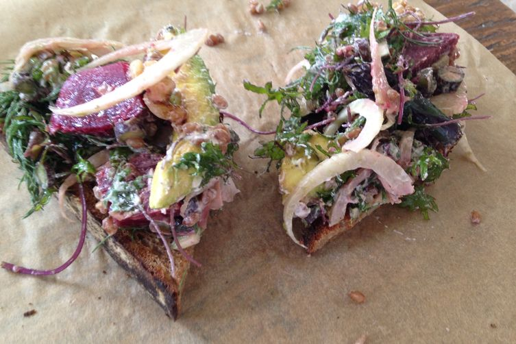 Walnut Avocado & Beet Tartine