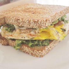 Avocado kale pesto sandwich