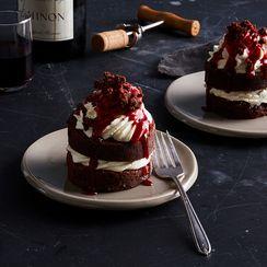 Mini Brownie Layer Cakes