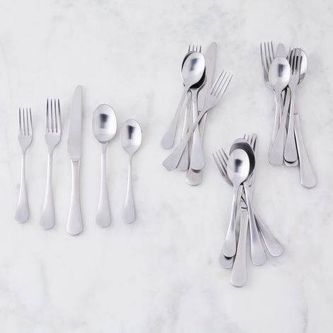 Bergen Matte Stainless Steel Flatware (20-Piece Set)