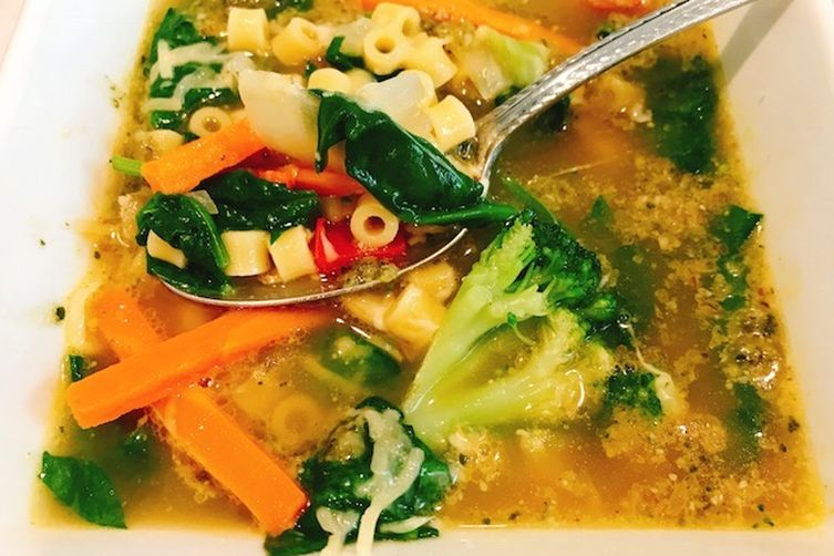 Pesto Vegetable Soup
