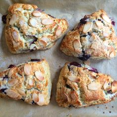 Chocolate, Cherry and Almond Scones