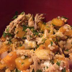 Warm Butternut Squash and Chicken Salad