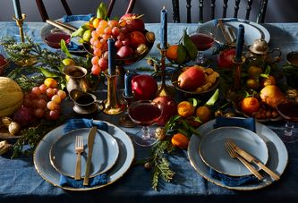 We Can't Stop Watching This Dramatic Holiday Table Being Set